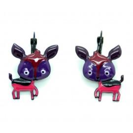 Boucles LOL Bijoux Bambi BFLOL030-violet