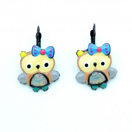 Boucles d'oreilles LOL Bijoux La Chouette BFLOL013-marron