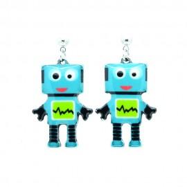 Boucles d'oreilles Emaillées le petit robot BFCEM005