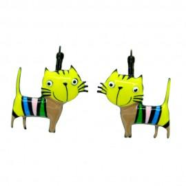 Boucles LOL Bijoux Le chat BFLOL051-jaune