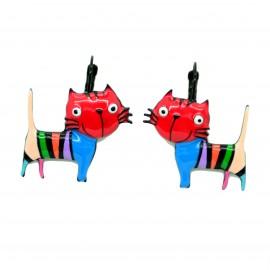 Boucles d'oreilles LOL Bijoux LOLILOTA Le chat BFLOL051-rouge