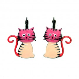 Boucles LOL Bijoux Le chat assis BFLOL052-rose
