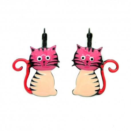 Boucles LOL Bijoux Le chat BFLOL051-rose