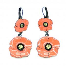 Boucles d'oreilles LOL Bijoux LOLILOTA Le Coquelicot BFLOL062-orange