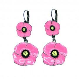 Boucles d'oreilles LOL Bijoux LOLILOTA Le Coquelicot BFLOL062-rose