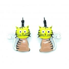 Boucles d'oreilles LOL Bijoux LOLILOTA Le chat assis BFLOL052-jaune