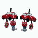 Boucles d'oreilles LOL Bijoux LOLILOTA Coccinelle VW BFLOL073-rouge
