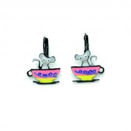 Boucles d'oreilles LOL Bijoux LOLILOTA souris boit la tasse BFLOL094