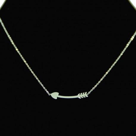 Collier pendentif Acier chirurgical Inox Flèche Charm Colac029-Argenté