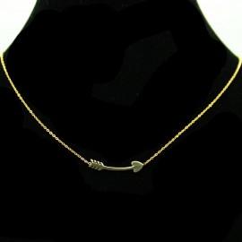 Collier pendentif Acier chirurgical Inox Flèche Charm Colac032-doré