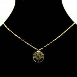 Collier pendentif Acier chirurgical Inox Arbre de vie Charm Colac036-doré
