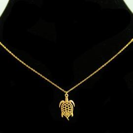 Collier pendentif Acier chirurgical Inox tortue Charm Colac041-doré