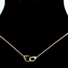 Collier pendentif Acier chirurgical Inox Menottes Charm Colac046-doré