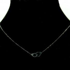 Collier pendentif Acier chirurgical Inox Menottes Charm Colac046-noir