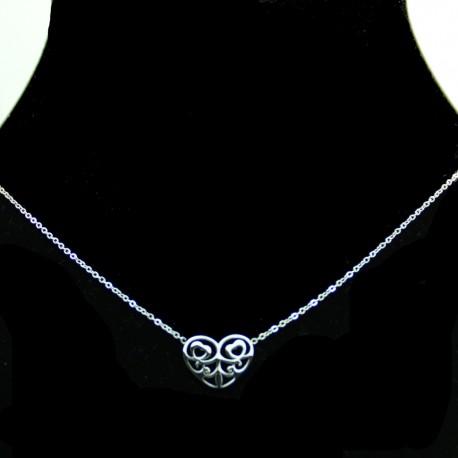 Collier pendentif Acier chirurgical Inox Coeur Charm Colac047-argenté