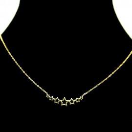 Collier pendentif Acier chirurgical Inox 7 étoiles Charm Colac040-doré