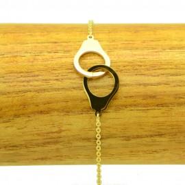 Bracelet Acier chirurgical 316L Menottes chaine fine Charm BRA014-doré