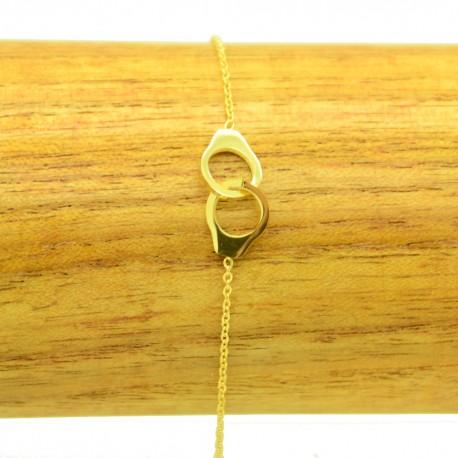 Bracelet Acier chirurgical 316L Petite menottes chaine fine Charm BRA022-doré