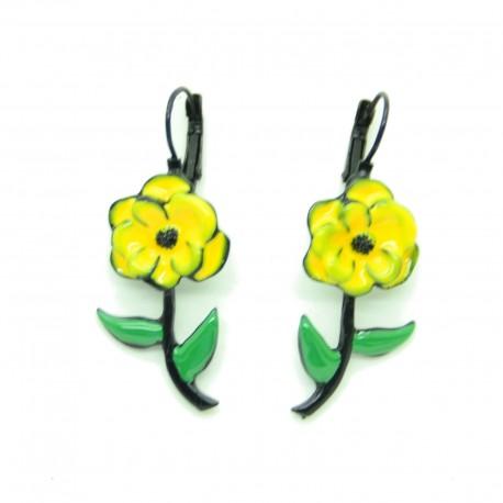 Boucles d'oreilles LOL Bijoux LOLILOTA La fleur BFLOL097-Jaune