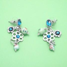 Boucles LOL Bijoux BFCSM004-Bleu