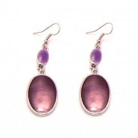 Boucles Emaillées BFPEM001-violet