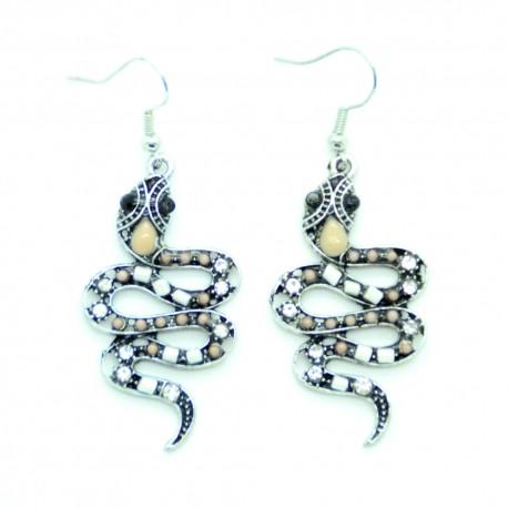 Boucles d'oreilles Argentées Sepent BFPAM011-Blanc