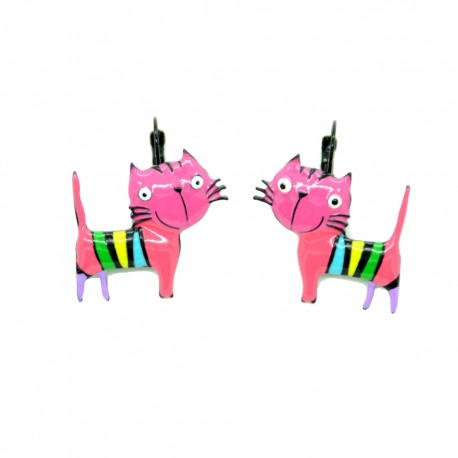 Boucles LOL Bijoux Le chat BFLOL051-roouge