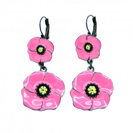 Boucles d'oreilles LOL le coquelicot BFLOL062-rose