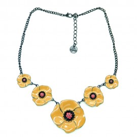 Collier LOL Bijoux Les coquelicots COLOL033-marron