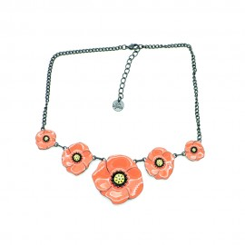 Collier LOL Bijoux LOLILOTA Les coquelicots COLOL033-orange
