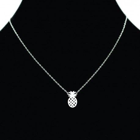 Collier pendentif Acier chirurgical Inox ananas Charm Colac027-Argenté