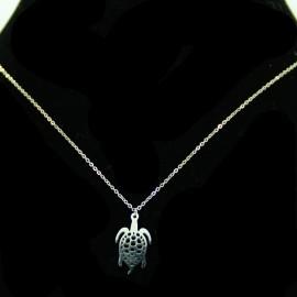Collier pendentif Acier chirurgical Inox tortue Charm Colac041-argenté