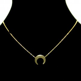 Collier pendentif Acier chirurgical Inox Lune Charm Colac045-doré