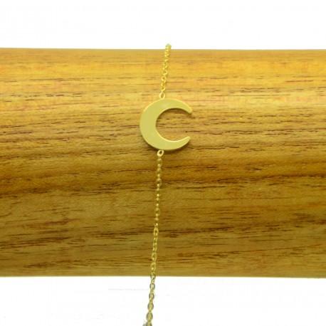 Bracelet Acier chirurgical 316L Licorne chaine fine Charm Réglable BRA023-Doré