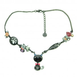 Collier LOL Bijoux LOLILOTA Le chat gentleman COLOL047-noir