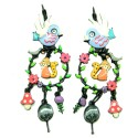 Boucles d'oreilles LOL Bijoux LOLILOTA L'oiseau et le renard BFLOL103-rose