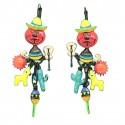 Boucles d'oreilles LOL Bijoux LOLILOTA Le chat mexicain et le lama BFLOL110-rouge