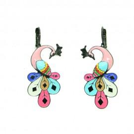 Boucles d'oreilles LOL Bijoux LOLILOTA Le paon BFLOL114-rose