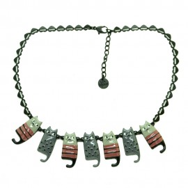 Collier LOL Bijoux LOLILOTA Les chats cats aristochats COLOL053-gris