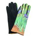 Gants polaire femme hiver chaud tactile colorés tableau peinture Van Gogh Les Iris