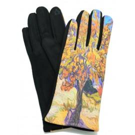 Gants polaire femme hiver chaud tactile colorés tableau peinture Van Gogh Le Murier