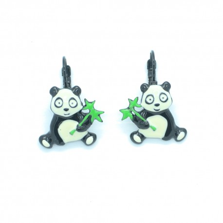 Boucles d'oreilles LOL Bijoux LOLILOTA Le panda et son bambou BFLOL119