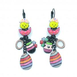 Boucles d'oreilles LOL Bijoux LOLILOTA Le poussin calimero oeuf BFLOL122-rose