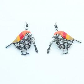 Boucles d'oreilles LOL Bijoux LOLILOTA L'oiseau et la plume BFLOL76-orange