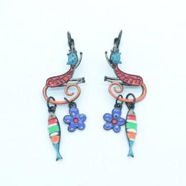 Boucles d'oreilles LOL Bijoux LOLILOTA Le chat et la sardine BFLOL115-Multi