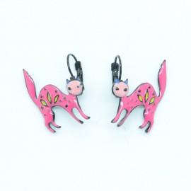 Boucles d'oreilles LOL Bijoux LOLILOTA Le chat en colère BFLOL130-fushia