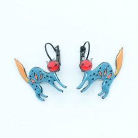 Boucles d'oreilles LOL Bijoux LOLILOTA Le chat en colère BFLOL130-bleu