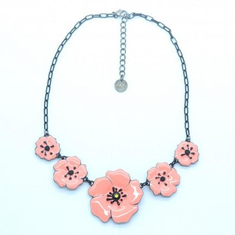 Collier LOL Bijoux LOLILOTA Les coquelicots COLOL055-rose