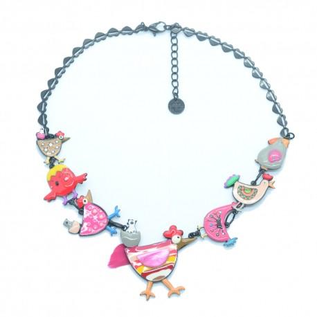 Collier LOL Bijoux LOLILOTA Les poules et les poussins COLOL056-Multicolore