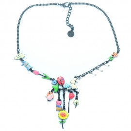 Collier LOL Bijoux LOLILOTA Les lapins le chat la nature COLOL061-Multi